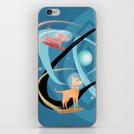 Atomic Rocket Powered Space Dogs iPhone Skin