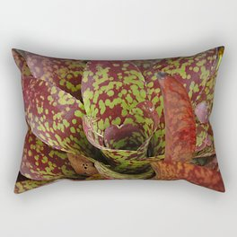 Exotic Spotted Leaves With Splash of Sunlight Rectangular Pillow