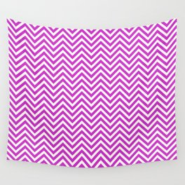 Hot Pink Chevrons Wall Tapestry
