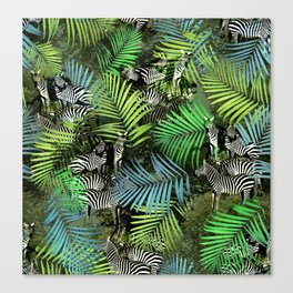 zebra ville Canvas Print