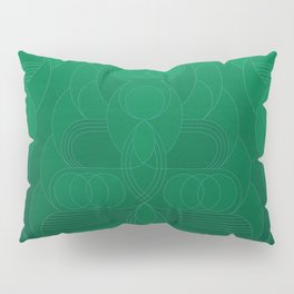 Round and About Emerald Pillow Sham