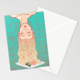 East noodles girl Stationery Cards