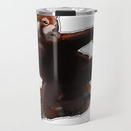 Red Panda Kick Travel Mug