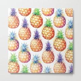 Fat Pineapples Pattern Metal Print