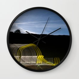 Twilight And Mountain Wall Clock