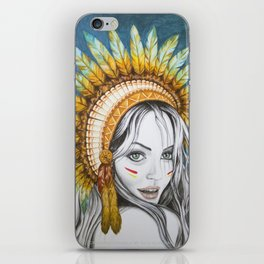 Red Indian Beauty iPhone Skin