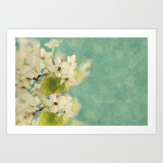Dream of spring - Apple Blossom Appleblossoms  Flower Floral Art Print