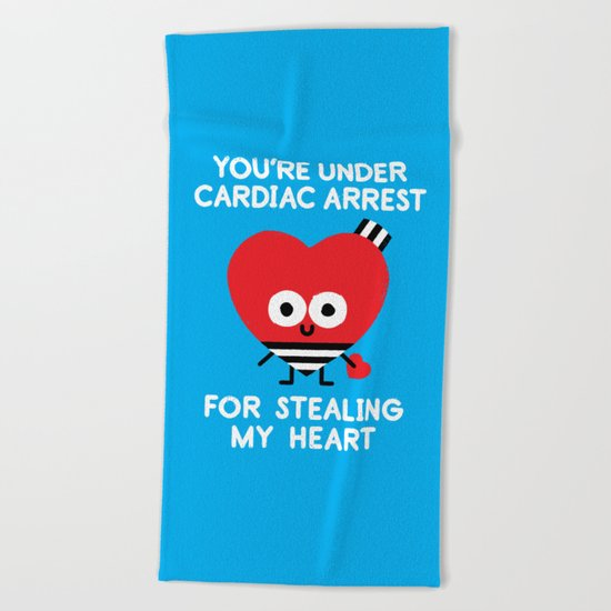 Aww Enforcement Beach Towel
