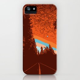 Two Lanes in the Fall iPhone Case