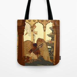 Angels in Oasis Tote Bag