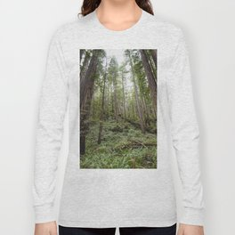 Fern Alley - Redwood Forest Nature Photography Long Sleeve T-shirt