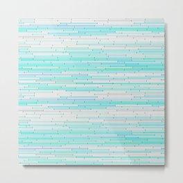 Sky Blue Random Line Sections Metal Print