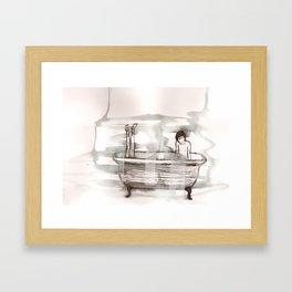 bathtub Framed Art Print