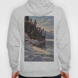 Winter Sunrise Lakeside in the Mountains by Ivan Fedorovich Choultsé Hoody