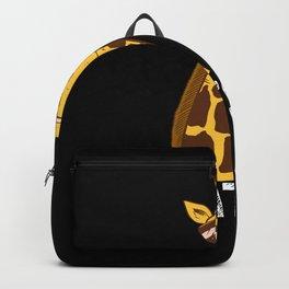 Funny Giraffe Giraffes Gift Idea Backpack