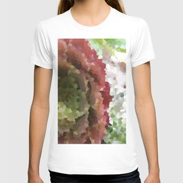 Crystallized Red Succulent T-shirt