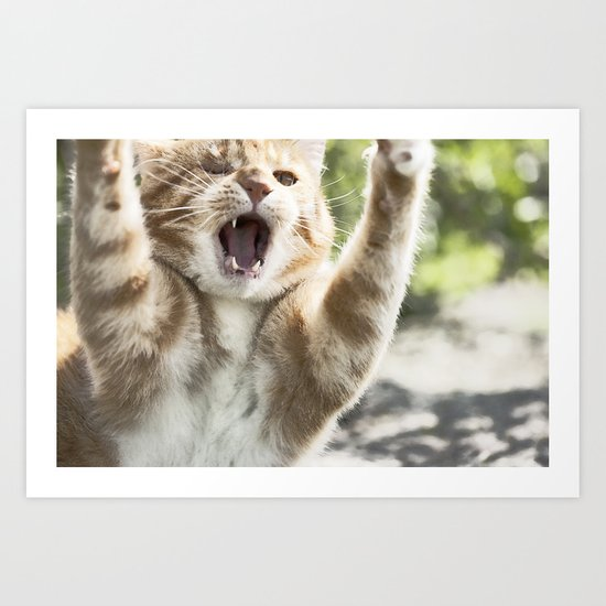 Attack Cat Art Print