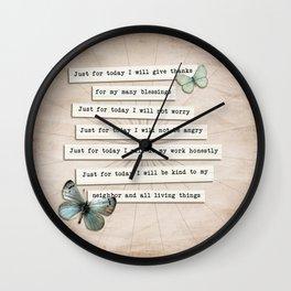Reiki Principles No.2 Wall Clock