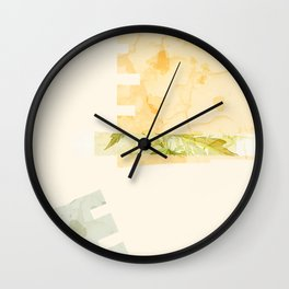Summer Wildflower Wall Clock