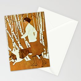 Coles Phillips 'Fadeaway Girl' A Walk in the Woods Stationery Cards