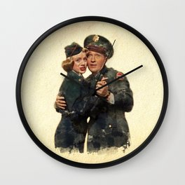 B&B ...Back in the Army (White Christmas) Wall Clock