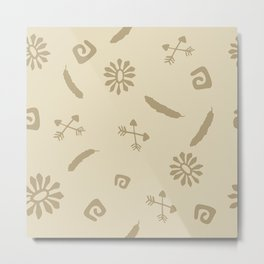 Cute Abstract Symbols Metal Print