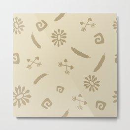 Cute Abstract Symbols Metal Print