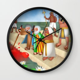 The Plague of Blood Wall Clock
