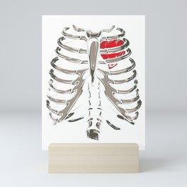 X-Ray Skeleton Rib Cage Gothic Halloween Costume Gift Mini Art Print