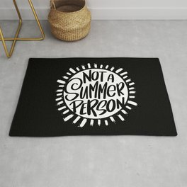 Not A Summer Person Rug