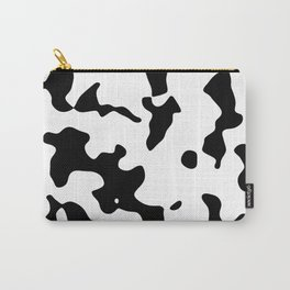 Large Spots - White and Black Carry-All Pouch