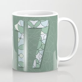 2017 year illustration decorated with abstract  decorative pattern in grey colors. Coffee Mug