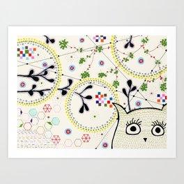 Yoshi Nightsky Art Print
