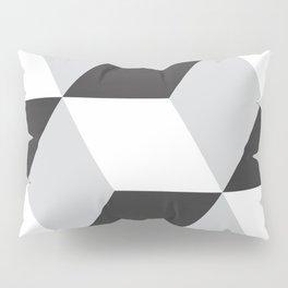 Cubism Black and White Pillow Sham