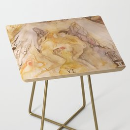 Lovers in gold and purple Side Table