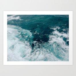 Ocean Waves (Teal) Art Print