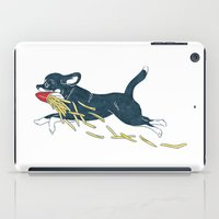 french fries iPad Cases featuring Chihuahua & French Fries by Kaori S