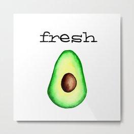 Fresh Avocado fr e sh a voca do Metal Print