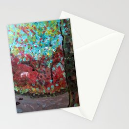Creek and bench Stationery Cards