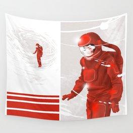 Hiroko in Storm // (astronaut girl) Wall Tapestry