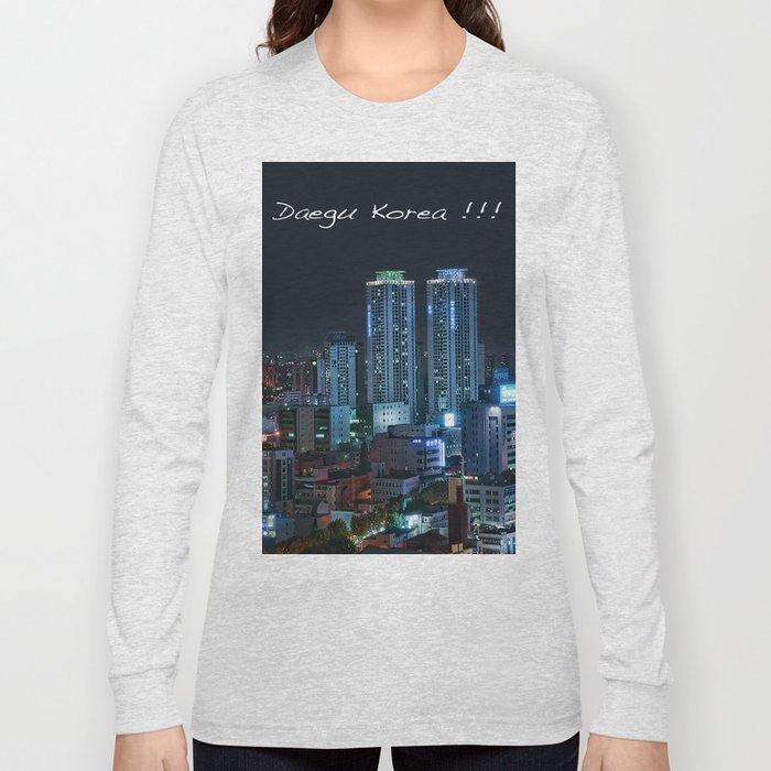 Daegu at Night Long Sleeve T-shirt