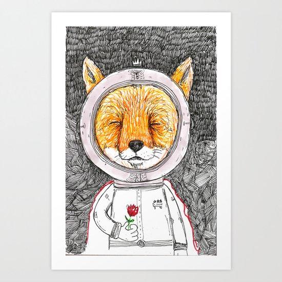 Le Petit Fox  Art Print