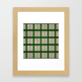 Evergreen Cozy Cabin Plaid Framed Art Print