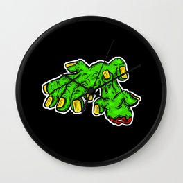 Zombie Dead Hands - All Fingers and Thumbs Wall Clock