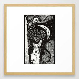 He's got a message but it's yours to find Framed Art Print
