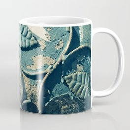 Abandoned, Rustic Pottery With Elegantly Weathered Leaves Coffee Mug