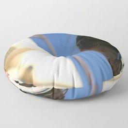 Girl Feather Headdress Floor Pillow