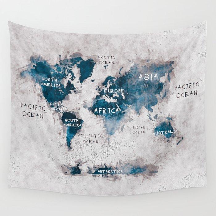 world map 13 #worldmap #map #world Wall Tapestry