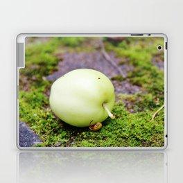 Green apple on green moss Laptop & iPad Skin
