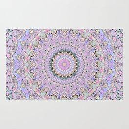 Marbled Pastel Mandala Rug